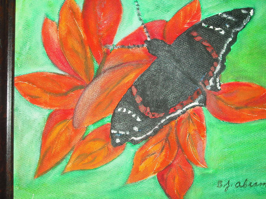 Abstract Painting - Black Butterfly by Betty Abrams