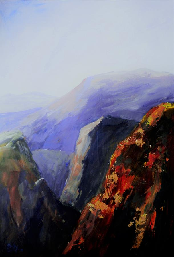 Canyon Painting - Black Canyon by Sally Bullers