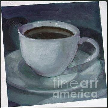 Still Life Painting - Black Coffee by Nancy Blum