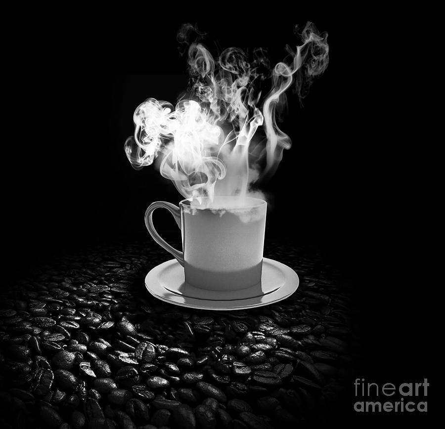 Coffee Photograph - Black Coffee by Stefano Senise
