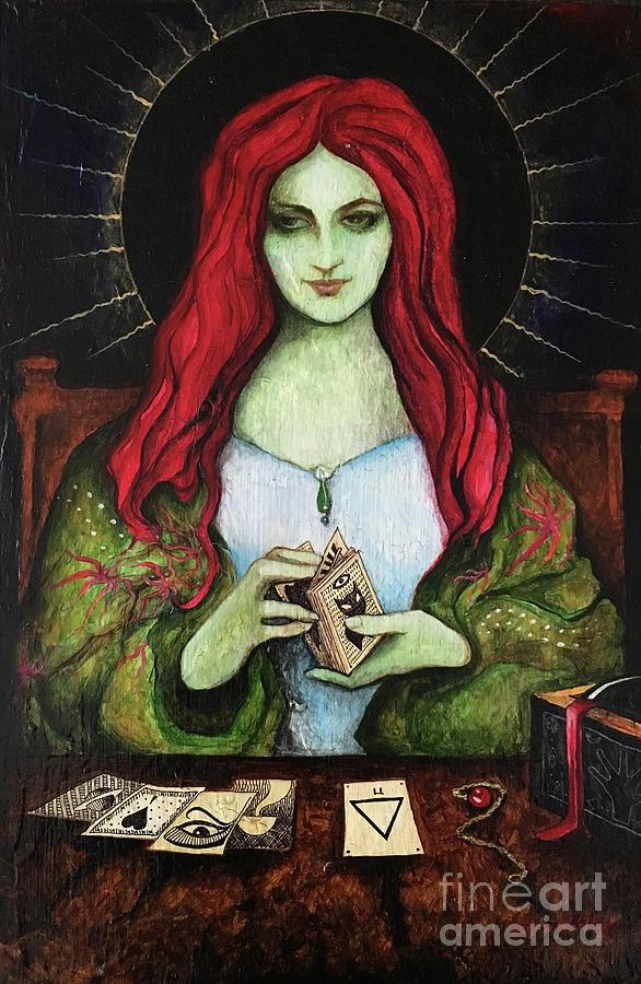 Gypsy Painting - Black Dalet by Dori Hartley