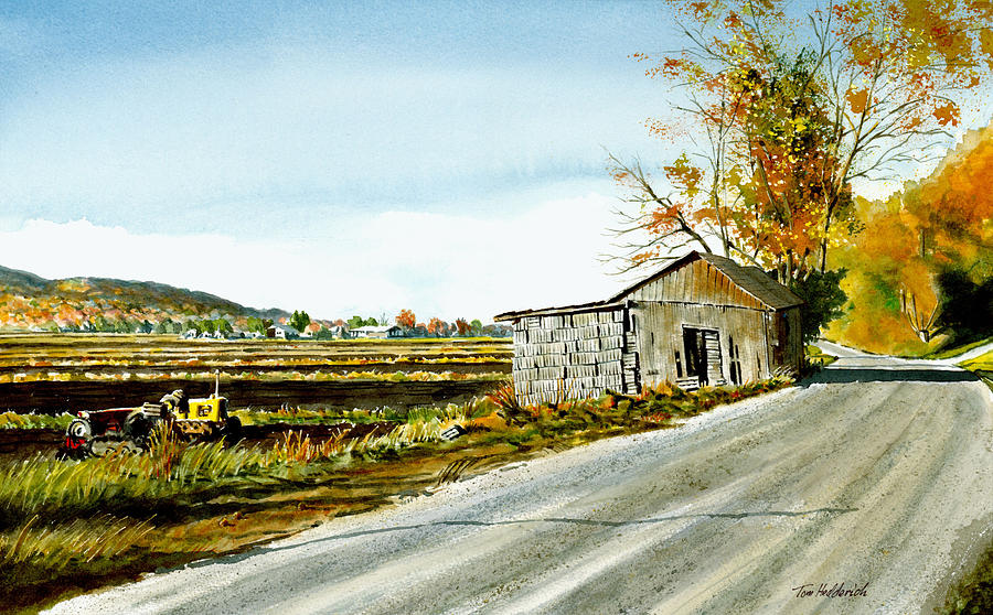 Watercolor Painting - Black Dirt Morning by Tom Hedderich