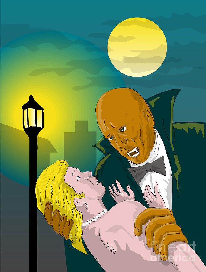 Dracula Digital Art - Black Dracula by Aloysius Patrimonio