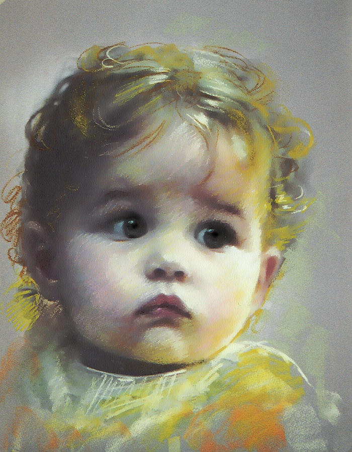 Portrait Pastel - Black Eyes by Ylli Haruni