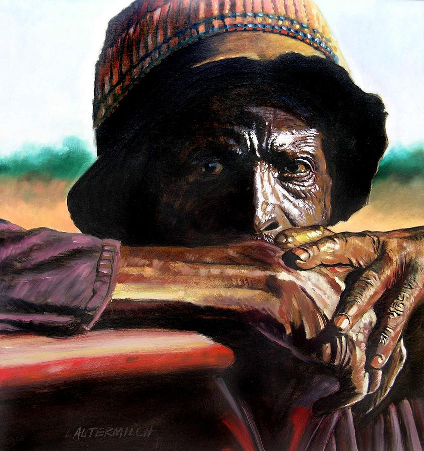 Black Farmer Painting - Black Farmer by John Lautermilch