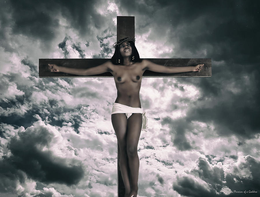 Black Female Jesus On Cross