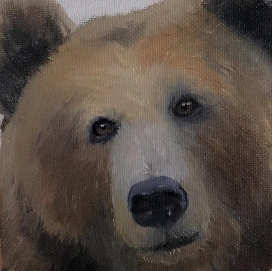 Black Forest Big Bear Cabin Rustic Lodge Portrait by Michele Carter
