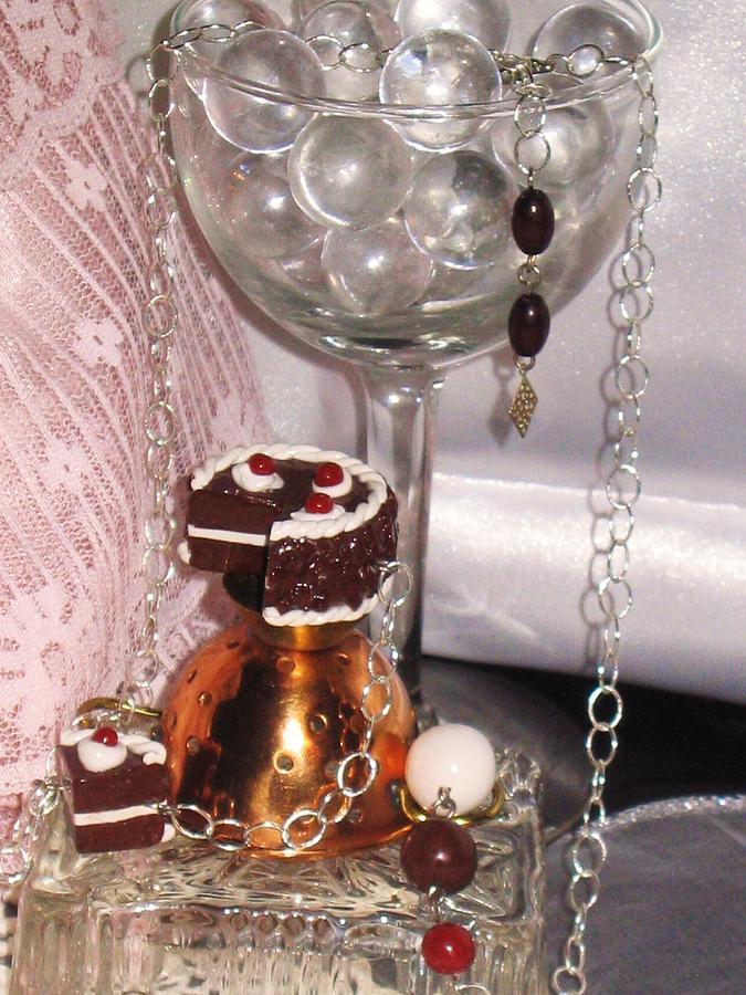 Chocolate Jewelry - Black Forest Cake Necklace by Jamie Pool