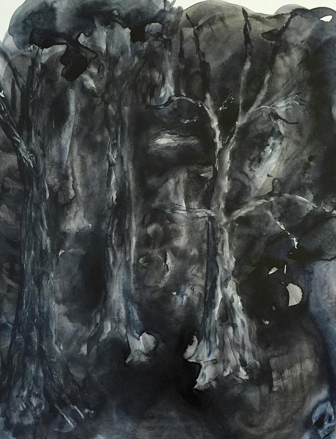 Black Painting - Black Magic Mystery by Nina Bryant
