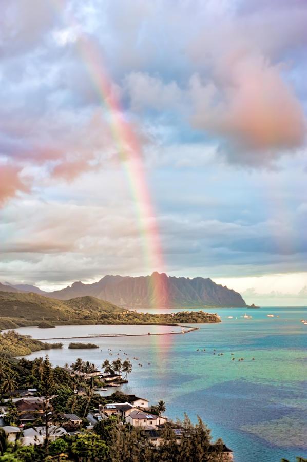 Hawaii Photograph - Black Friday Rainbow by Dan McManus