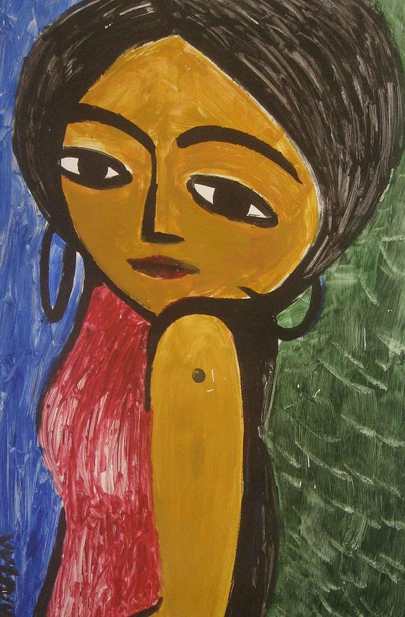 Black Girl Painting - Black Girl by Alireza Mobtaker