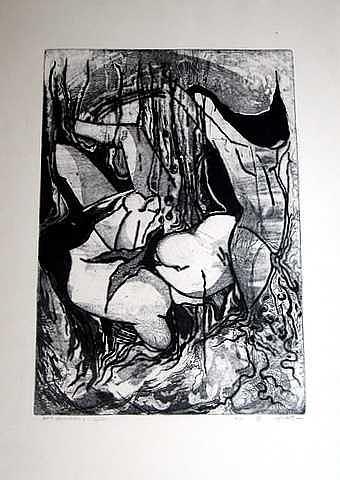 Black Hair Print by Samah Fahmy