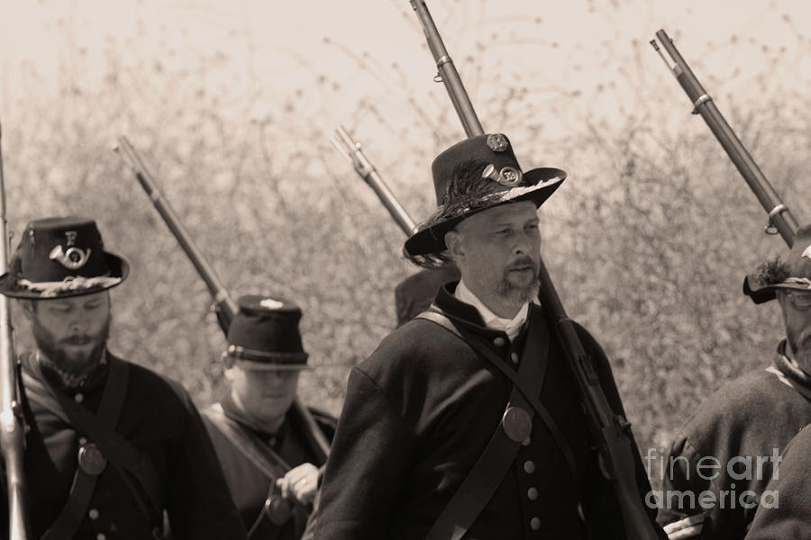 Civil War Photograph - Black Hats by Tommy Anderson