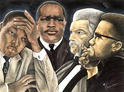 Martin Luther King Jr. Painting - Black History by Sonia Farquharson