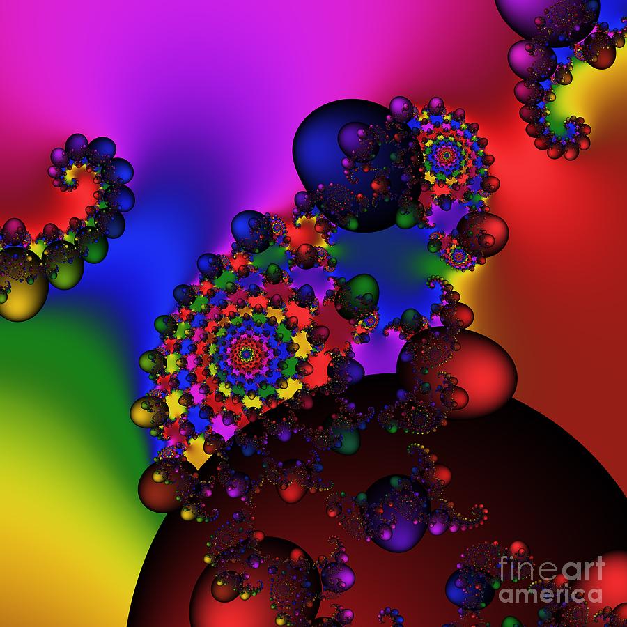 Abstract Digital Art - Black Holes Area 195 by Rolf Bertram
