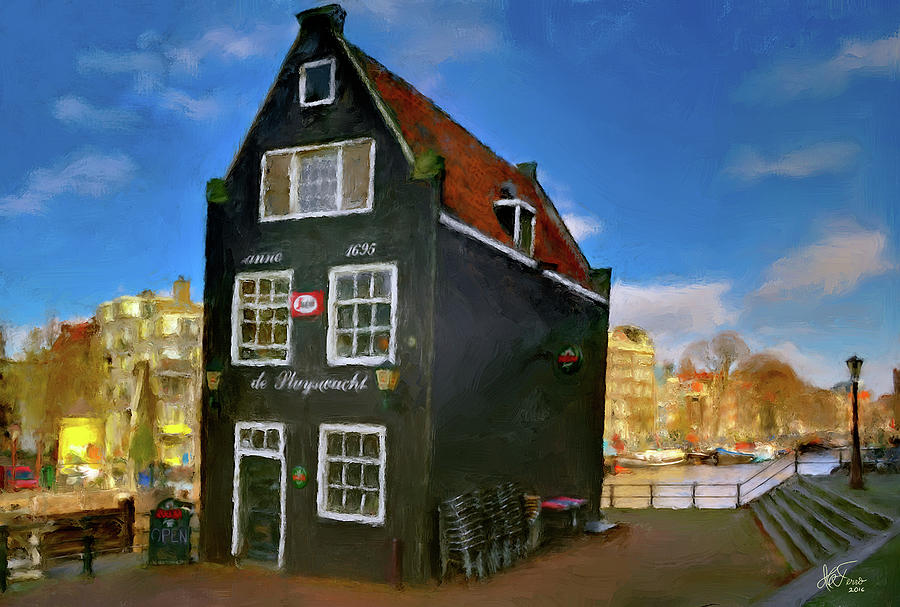 Black House in Jodenbreestraat #1. Amsterdam by Juan Carlos Ferro Duque