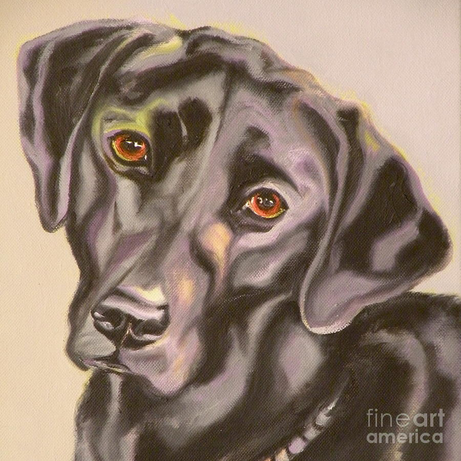 Giclee Painting - Black Lab Aint No Cure For Love by Susan A Becker