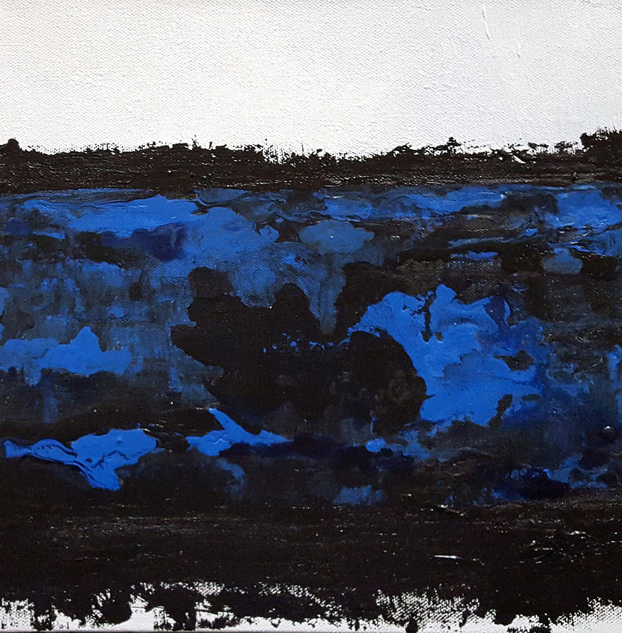 Black Lace Painting - Black Lace by KR Moehr