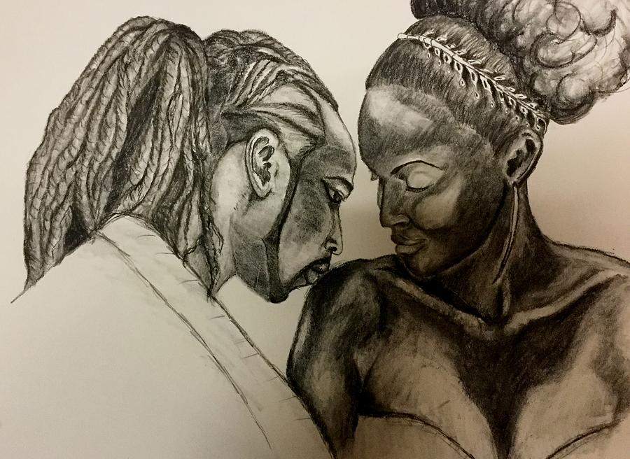 fa39f55ca1f Black Love 1 Drawing by Clyde Taylor