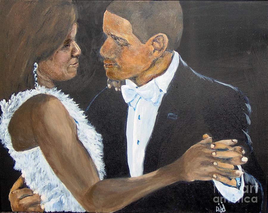 Barack Obama Painting - Black Love is Black Power by Saundra Johnson