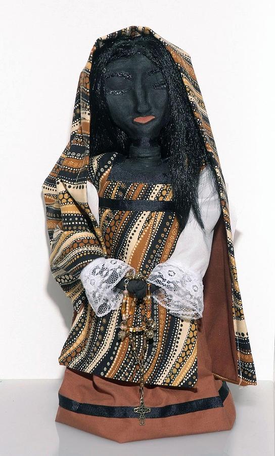 Black Madonna Mixed Media - Black Madonna - Compassion by Joyce Morrow-Jones