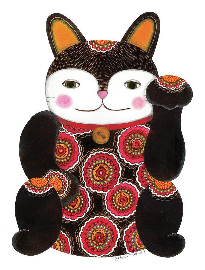 2 Maneki Neko Lucky Charm Amigurumi Plush Crochet Pattern PDF | Etsy | 900x683