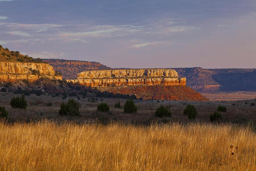 Black Mesa Photograph - Black Mesa Sunrise by Charles Warren