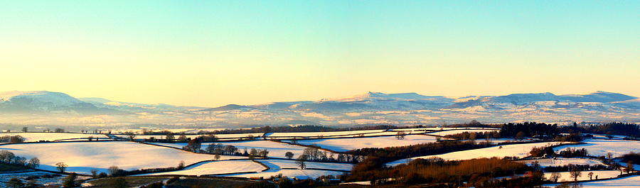 Brecon Beacons Photograph - Black Mountains And Vale Of Usk by Tom Wade-West