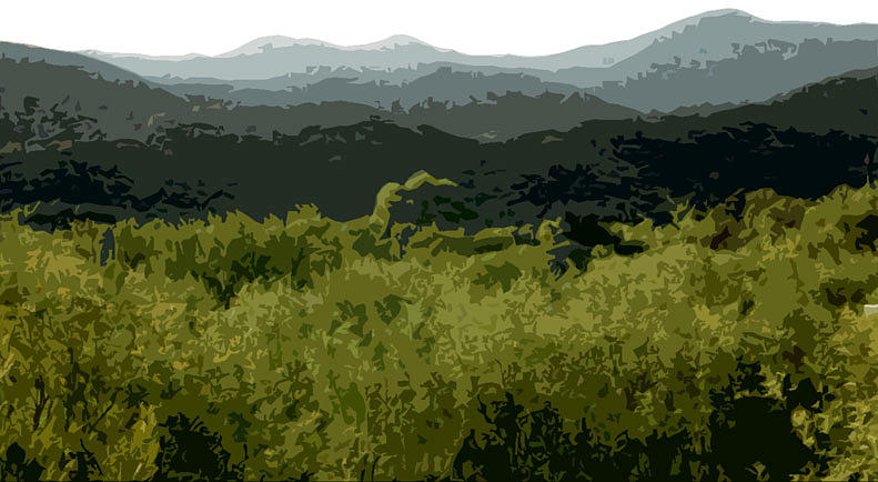 New Mexico Digital Art - Black Mountains by John Scariano