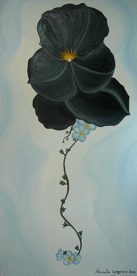 Flower Painting - Black Pansi by Marinella Owens