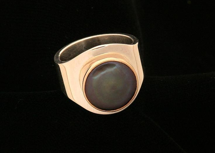 Black Pearl Ring Jewelry by Linda Bickel