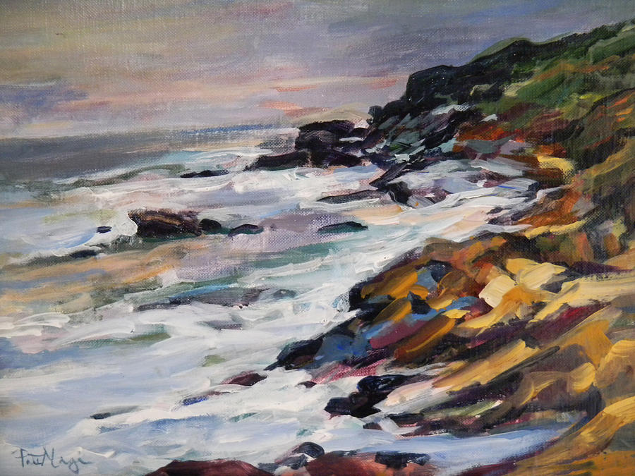 Rocks Painting - Black Point by Pati Maguire