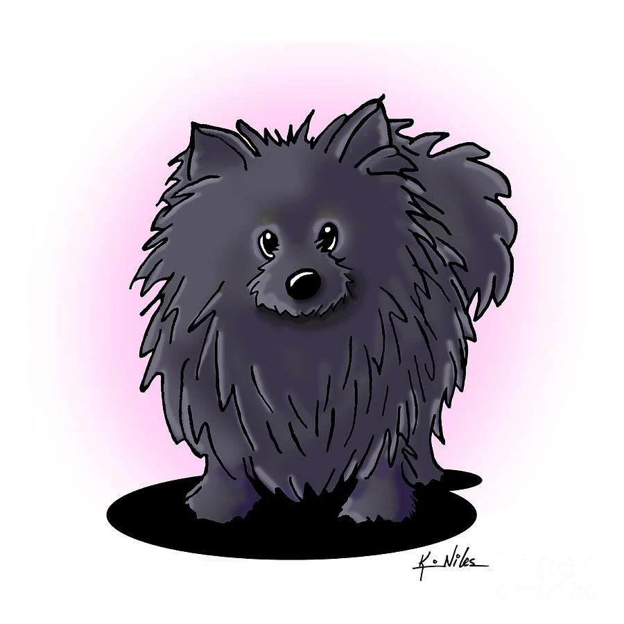 Black Pomeranian by Kim Niles