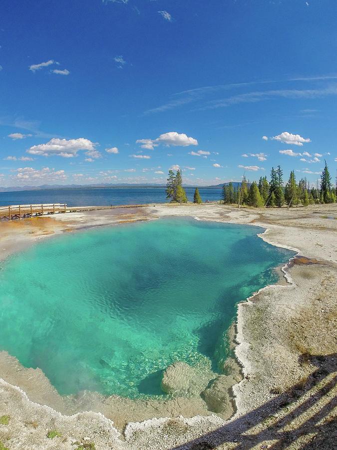 Black Pool Photograph - Black Pool, Yellowstone by Megan Martens