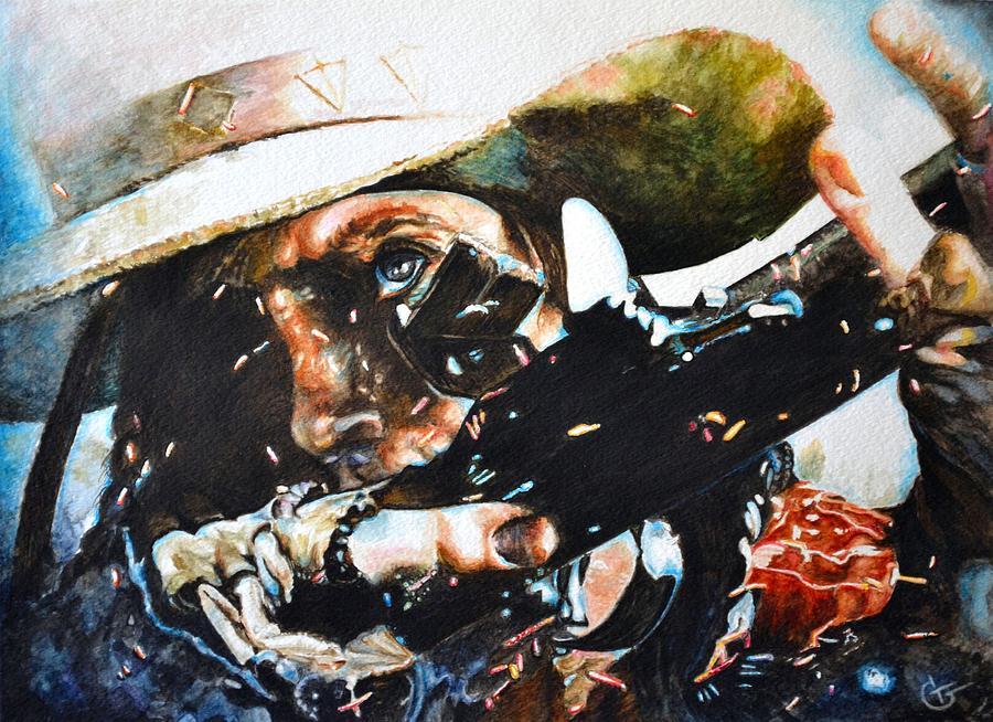 Western Paintings Painting - Black Powder by Traci Goebel