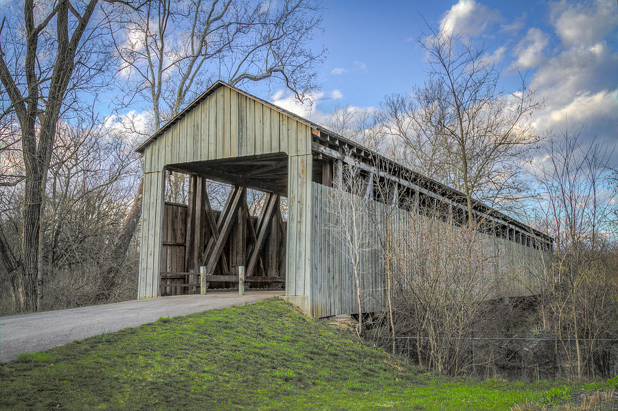 Black/pughs Mill Covered Bridge Photograph