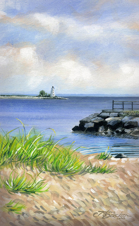 Bridgeport Painting - Black Rock by John Deecken