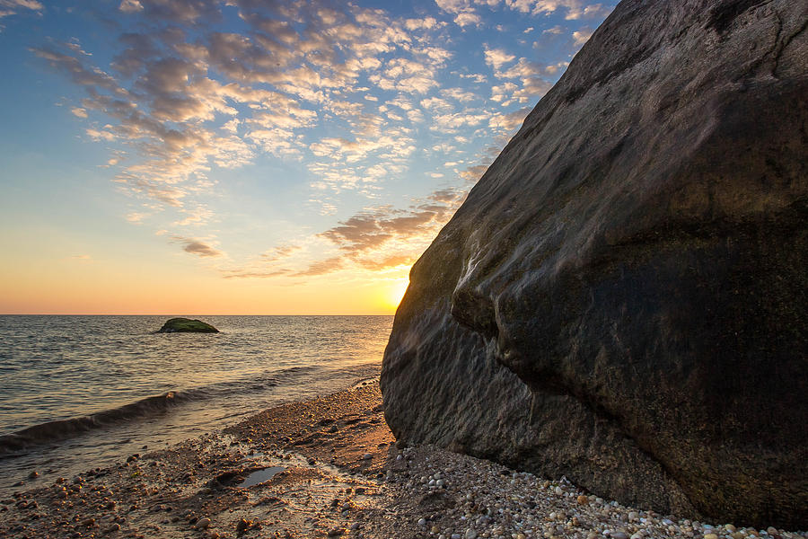 Black Rock Photograph - Black Rock Sunrise by Roderick Breem