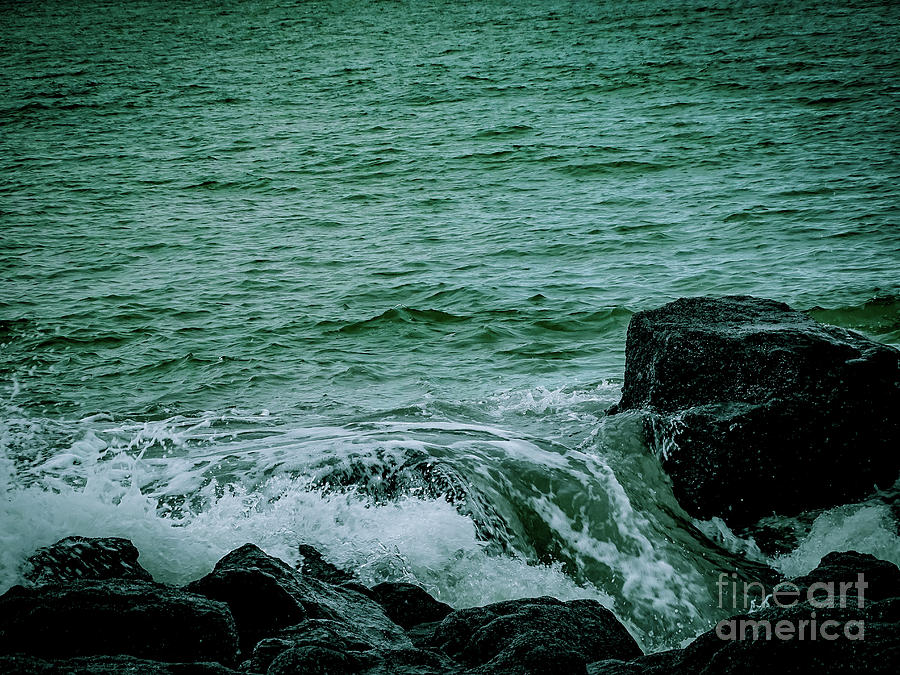 Black Rocks Seascape by Camille Pascoe
