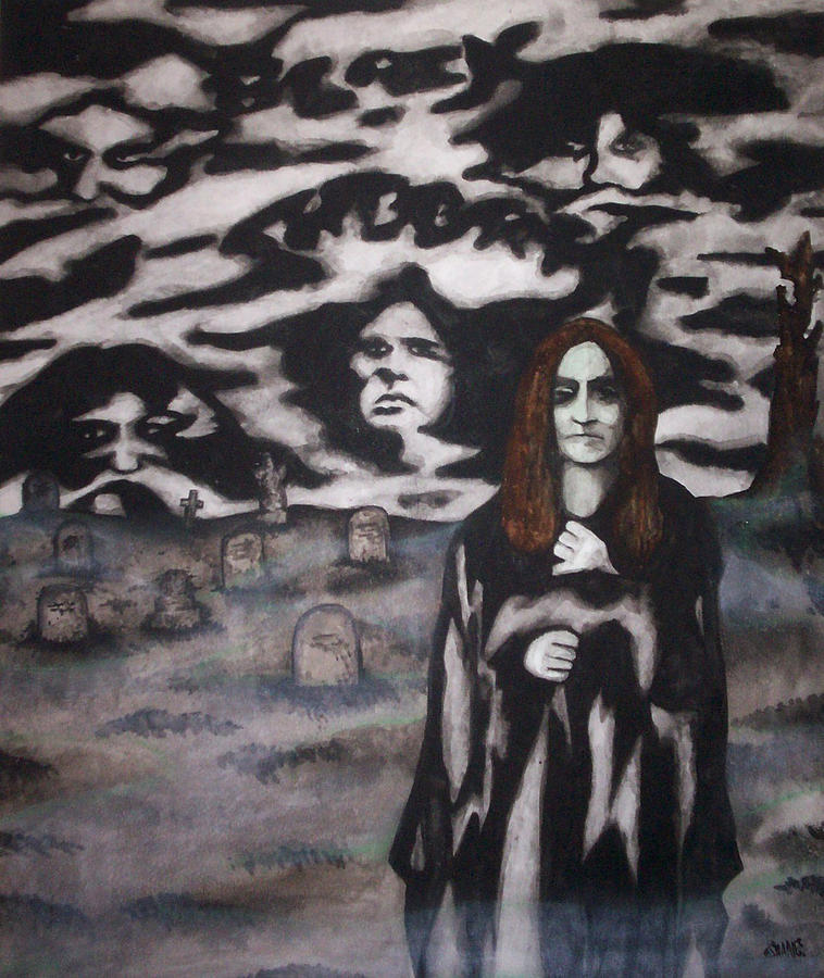 Ozzy Osbourne Painting - Black Sabbath Tribute by Sam Hane