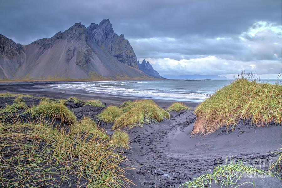 Black Sand Beach at Stokknes, Iceland by Gordon Wood