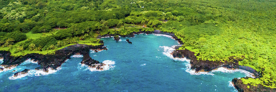 Maui Photograph - Black Sand Beach by Frank Testa