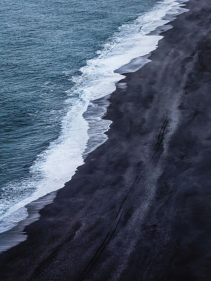 Iceland Photograph - Black Sand Beach, Iceland by Dana Plourde
