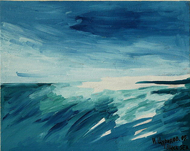 Tsurikov Iliya Painting - Black Sea by Tsurikov Iliya