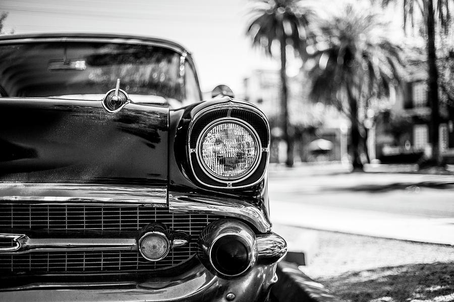 Classic Car Photograph - Black Sedan Untitled by Kyle Field