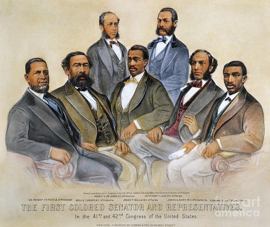 1800's Photograph - Black Senators, 1872 by Granger