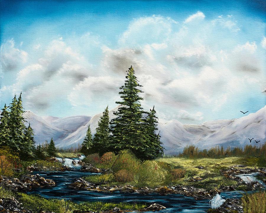 Black Creek Painting - Black Serpentine Creek  by Claude Beaulac