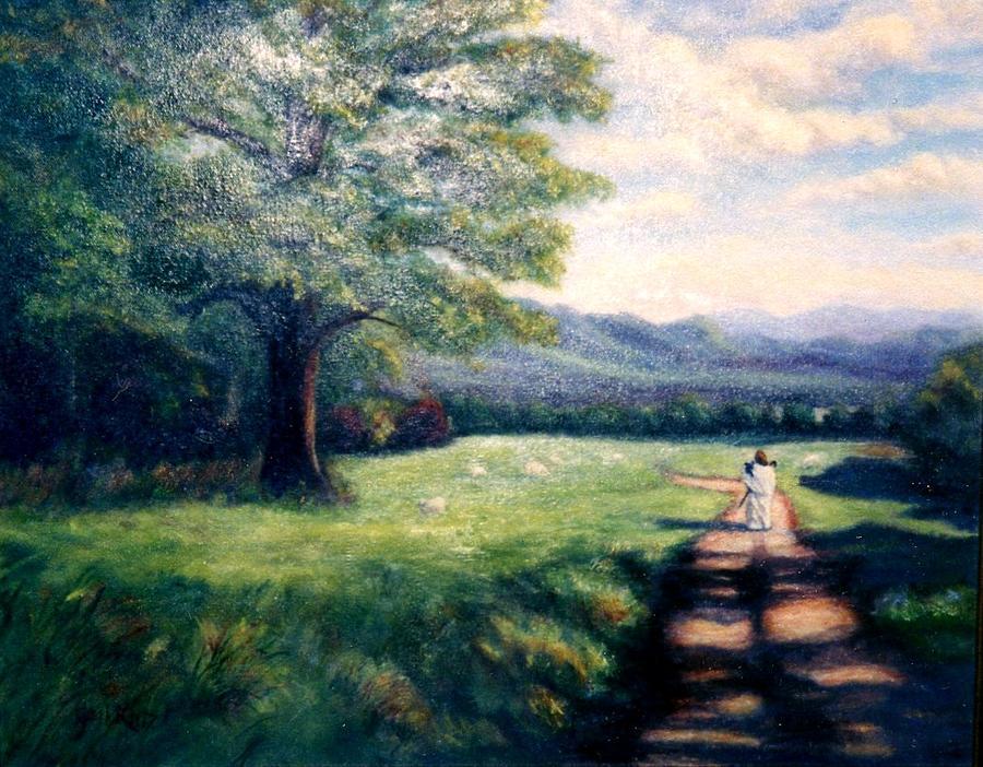 Christian Painting - Black Sheep by Gail Kirtz