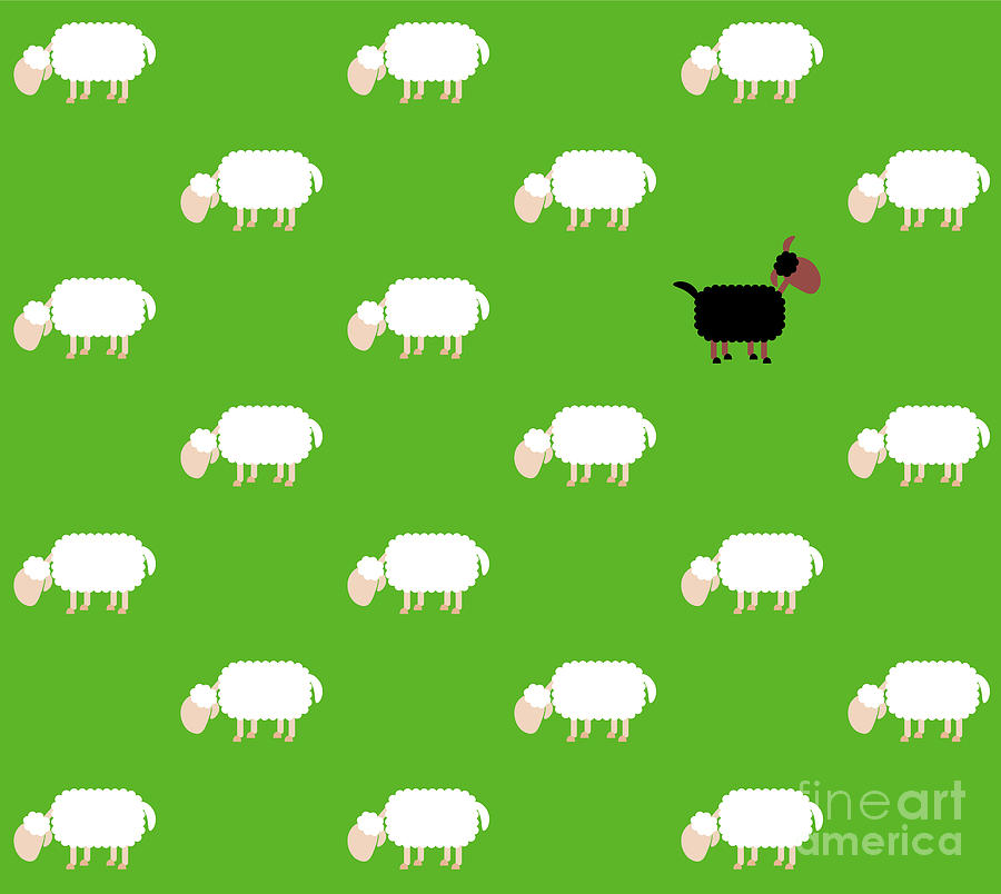 Black Sheep Pasture Comic Wallpaper By Peter Hermes Furian
