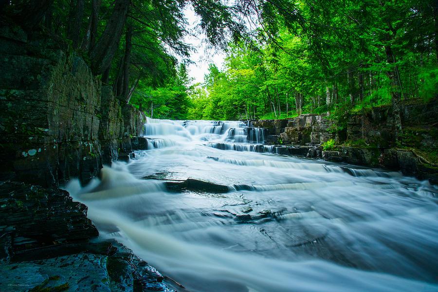Michigan Photograph - Black Slate Falls by Michael Tucker